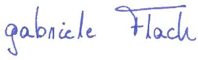 Gabriele Flach Unterschrift